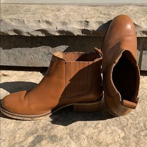 Topshop Shoes - TOPSHOP Leather Ankle Boots Wood Heels Sz 40 US 9